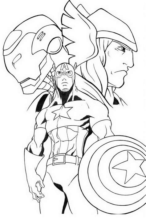 avengers cartoon coloring pages avengers coloring pages 360coloringpages