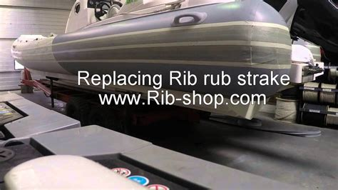 rub strake for inflatable boats rib rub strake replacement youtube