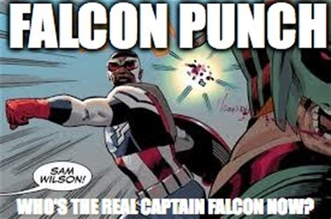 Falcon Punch Meme - image tagged in marvel captain america captain falcon
