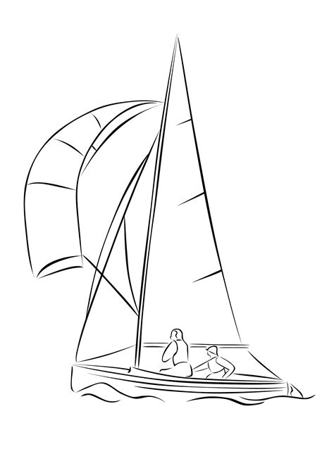 dinghy boat drawing clipart sailing dinghy