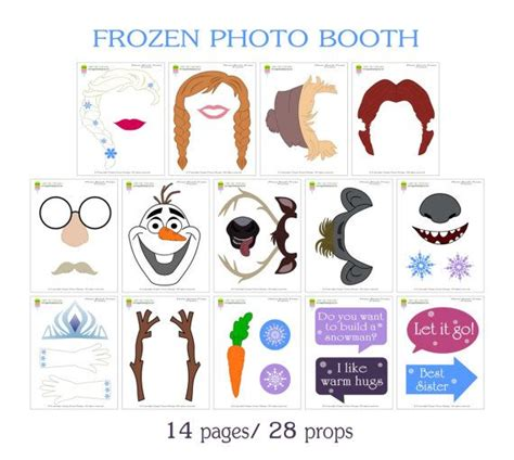 printable photo booth props frozen frozen photo booth props28 pieces printable by
