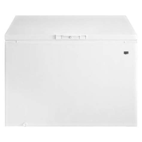 maytag 14 8 cu ft chest freezer in white mqc1552tew