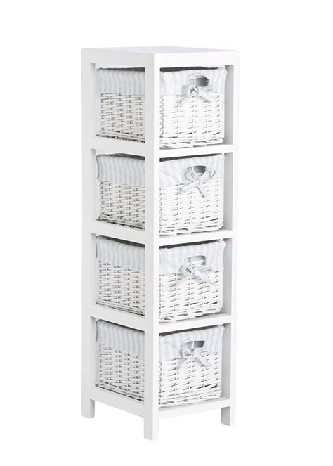 Bathroom Storage Cabinets With Wicker Drawers by Set Of 4 Split Willow Drawers 91cm X 25cm X 28cm Matalan