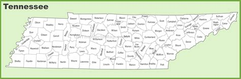 map of tennessee counties tennessee county map