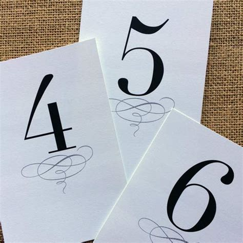 wedding table numbers printable free printable classic table numbers 1 12