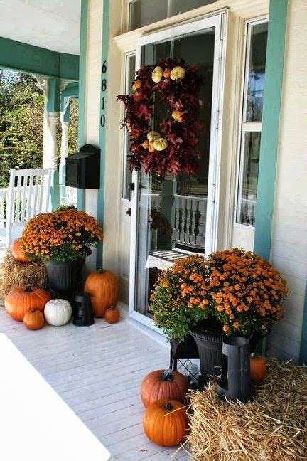 Thanksgiving Front Door Decorations by 30 Cozy Thanksgiving Front Door D 233 Cor Ideas Digsdigs