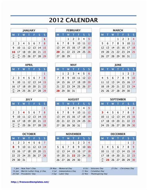 search results for printable 2012 calendar page 2