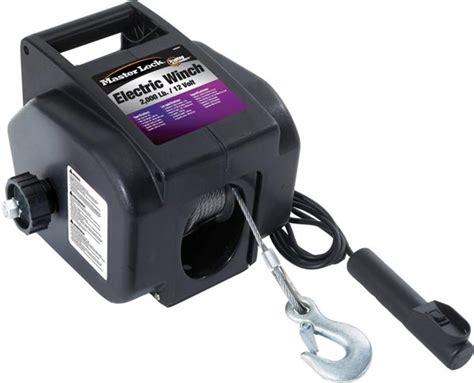 boat winch lock master lock 12 volt electric winch