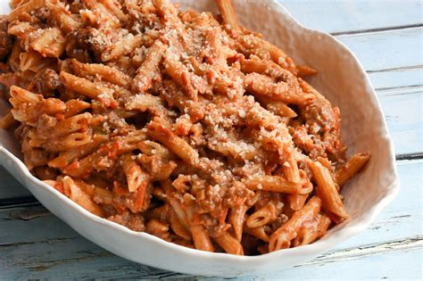 Penne Sauce penne pasta with a sauce