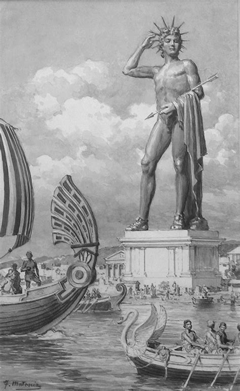 The Colossus of Rhodes by Fortunino Matania at the