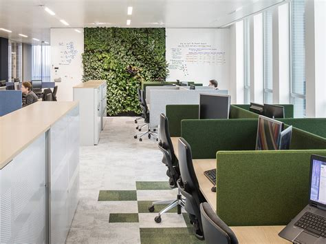interior architects designed  open  green offices