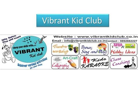 vibrant kid club authorstream