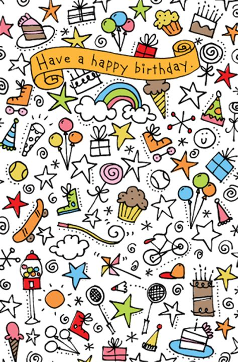 doodle happy birthday simple studio sss september 2009