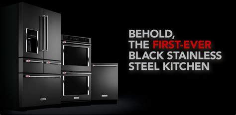 black stainless steel kitchen aid appliances