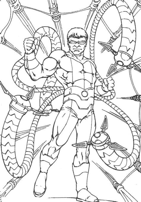 Dr Octopus Coloring Pages Coloring Pages Doc Ock Coloring Pages