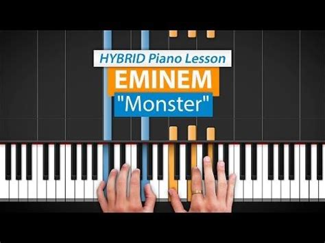 tutorial piano eminem quot monster quot by eminem hd piano youtube 176 piano lessons