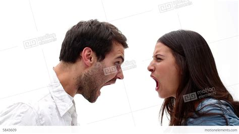 Wallpaper Of Angry Couple | angry young couple shouting at each other stock video