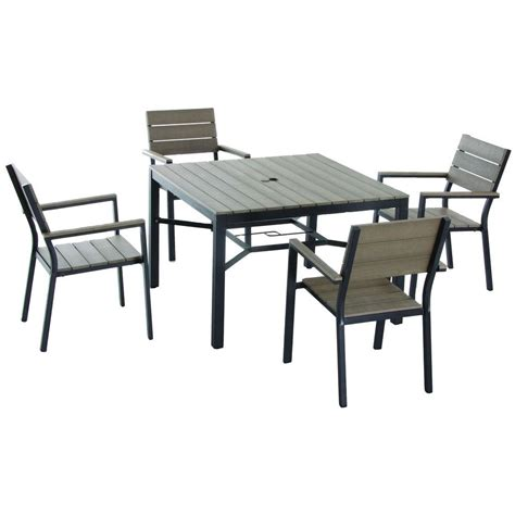 home depot patio dining sets hton bay northridge 5 patio dining set