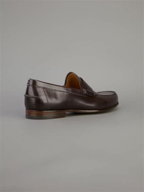 gucci classic loafer gucci classic branded loafer in brown for lyst