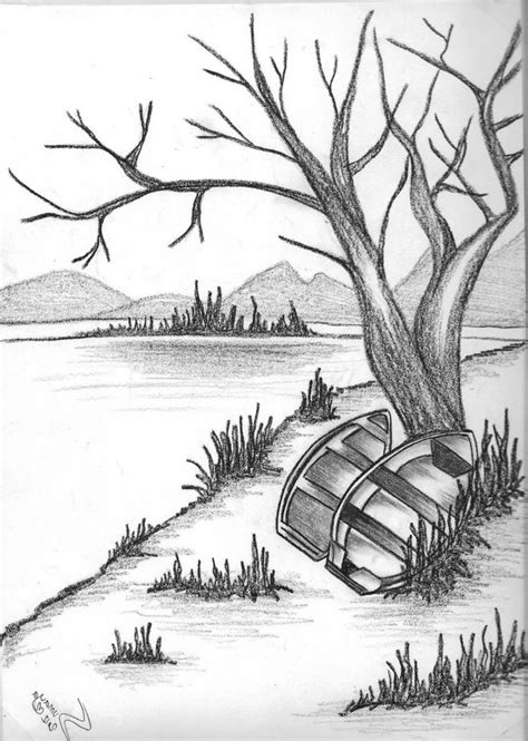 most beautiful scenery drawing tag easy pencil shading 15 best ideas about pencil drawings of nature on pencil sketches of nature pencil