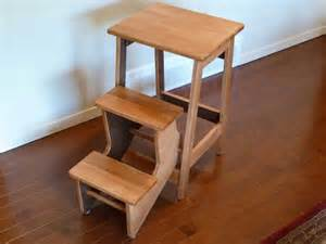 Wood Step Stool Chair » Home Design 2017