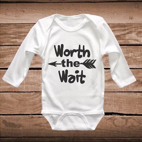 quotable baby shirts quotes worth the wait onesie worth the wait baby crawler clever sayings onesies