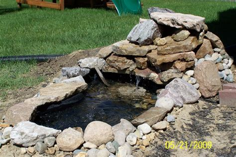 How To Make A Backyard Waterfall by Triyae Build A Backyard Pond And Waterfall Various