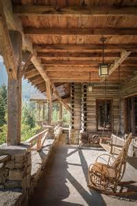 Cabin Porch by Paradise Mountain Lodge Exterior View Rustic Wood