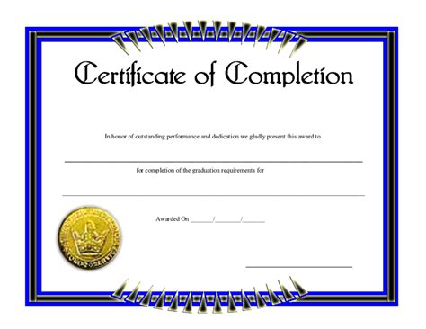 28 certificate of completion construction templates