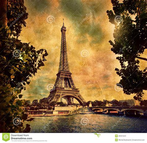imagenes retro de la torre eiffel torre eiffel em paris fance no estilo retro imagens de