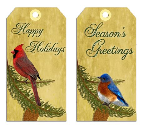 digital printables free holiday gift tags with birds