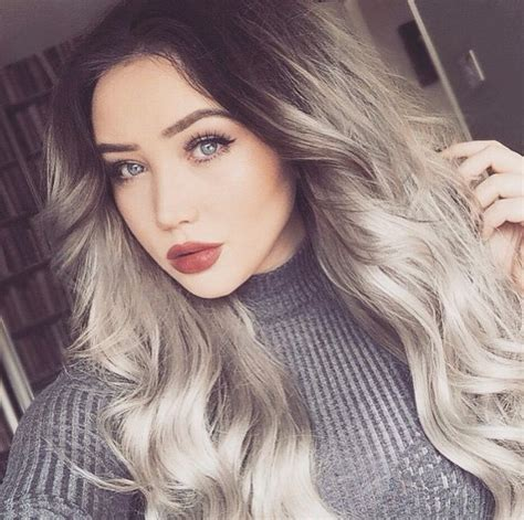 black roots blonde hair beautiful silver grey hair with dark roots hair colors