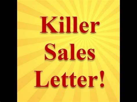 sales letter  prospecting  lead generation youtube