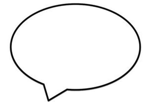 Blank Speech Bubble Template Clipart Best Speech Bubbles Printable