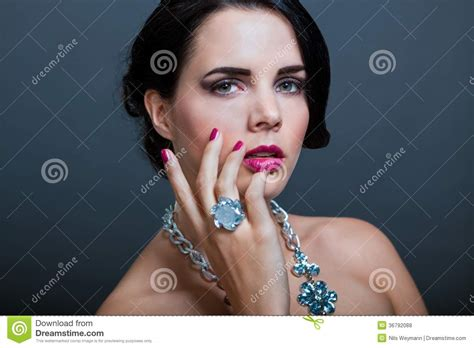 elegant mature woman wearing silver jewelry stock photo beautiful sophisticated woman royalty free stock photos