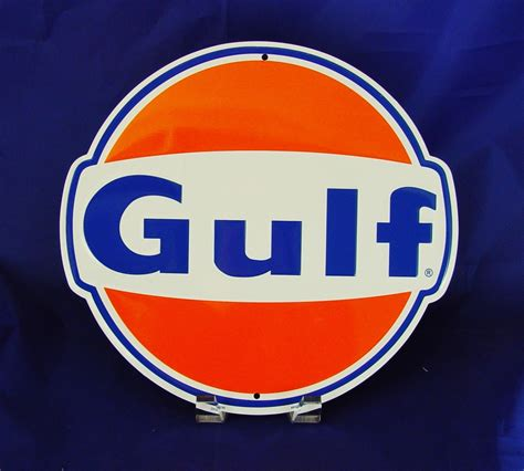 vintage gulf logo 2 trailer decal gasoline logo sticker oil sponsor shell