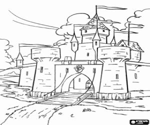 castle moat coloring page castles coloring pages printable games