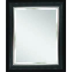 bathroom mirrors black frame deco mirror alderton 28 5 in x 34 5 in mirror in black
