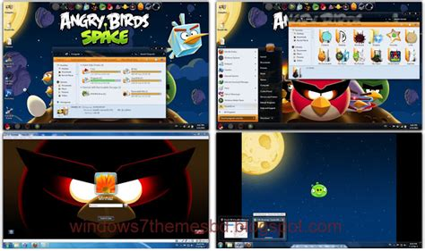 games themes pack angry birds space skin pack for windows 7 windows 7