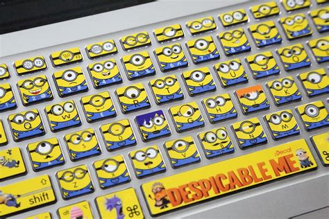 Minions 1 Notebook Decal 2018 minions laptop skin decals for macbook pro keyboard