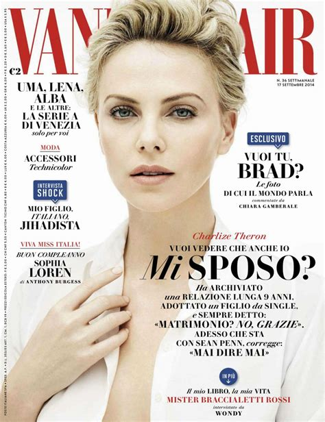 Vanity Fair Magazine 2014 by Charlize Theron Vanity Fair Magazine Italia 17th