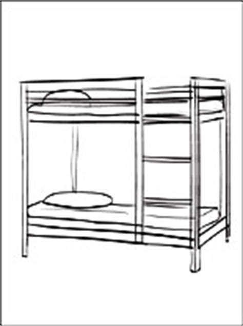 Bunk Bed Template Bunk Bed Coloring Pages Coloring Pages