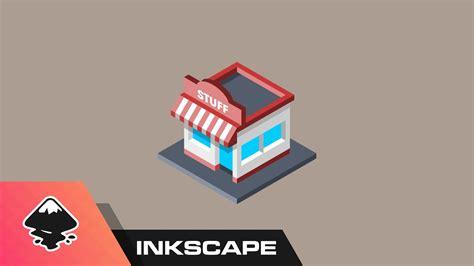 inkscape tutorial icon inkscape tutorial isometric shop icon youtube