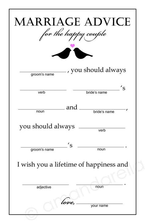 bridal shower advice ideas 17 best ideas about marriage advice cards on