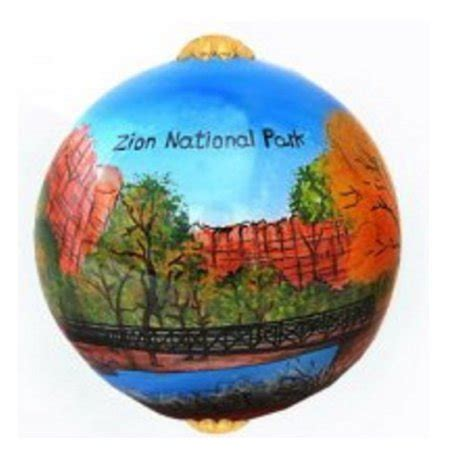 national park christmas ornaments zion national park utah scenic painted glass ornament new walmart