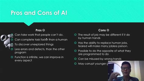 pros andcons of perms artificial intelligence pros cons youtube