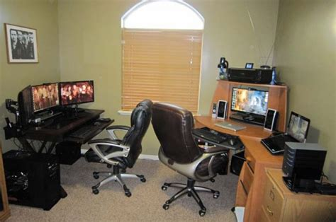 home office setups home office gaming movies setup workstation setups