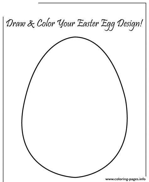A4 Easter Egg Template Printable