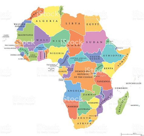 africa political map africa single states political map stock vector more