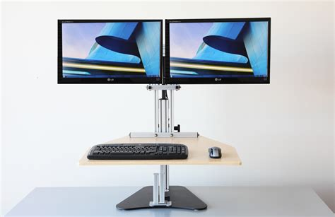 Desk Top Height by Ergo Desktop Kangaroo Elite Dual Display